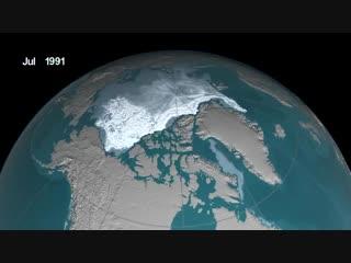 Таяние полярной шапки Земли