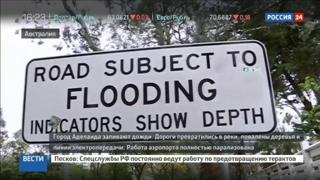 Новости на Россия 24 • На Австралию обрушился сильнейший за полвека шторм