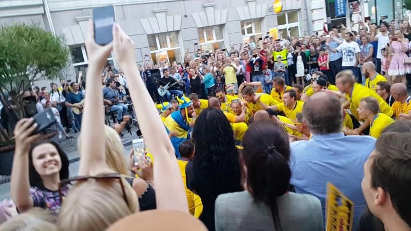 Шведские болельщики в Нижнем