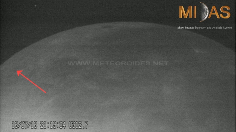 Two rocks impact the Moon on 17 18 July