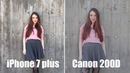 IPhone 7 plus vs Canon 200D / Что лучше? / Сравнение / ТЕСТ