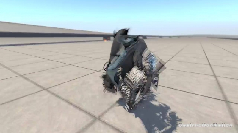 [DestructionNation] Giant Spinners With Chains Against Cars - BeamNG Drive (Satisfying Car Shredding)