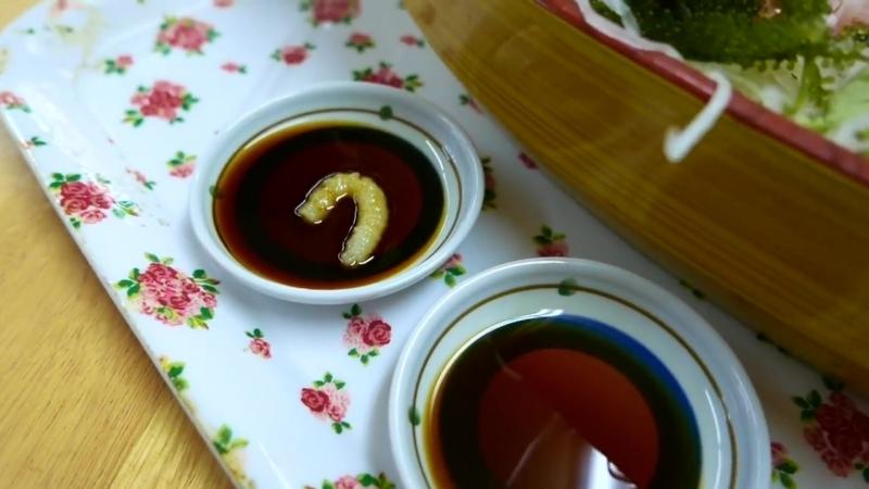 Travel Thirsty Japanese Street Food GOLD SPOT WRASSE Sashimi Okinawa Seafood Japan