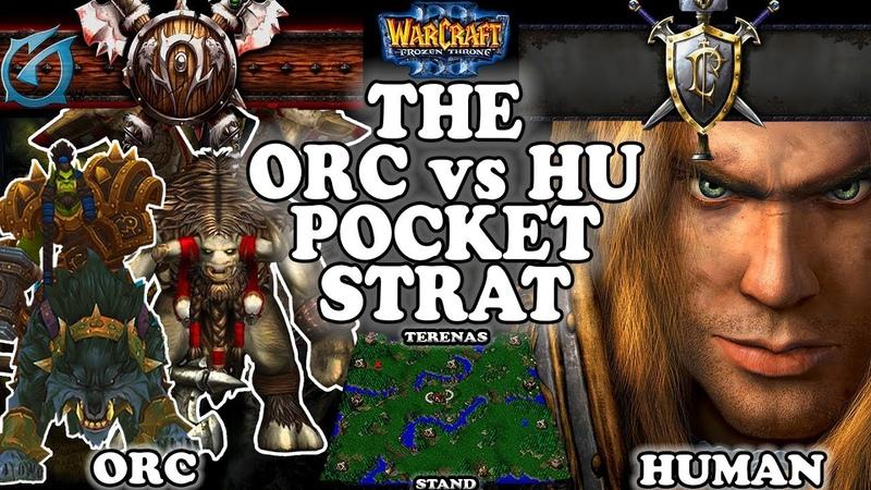 Grubby   Warcraft 3 TFT   1.30   ORC v HU on Terenas Stand - The ORC vs HU Pocket Strat