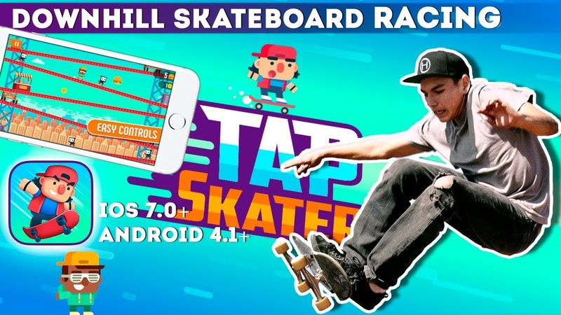 Tap Skaters - Downhill Skateboard Racing (Gameplay IOSAndroid)