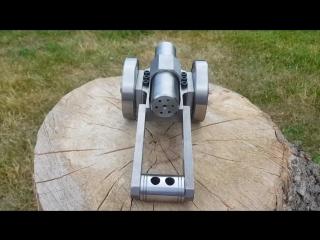 SIX Barrel ! Powerful Mini Cannon. 9mm Caliber. Мощная мини пушка