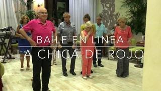 Baile en Linea - La Chica De Rojo ( Cumbia )