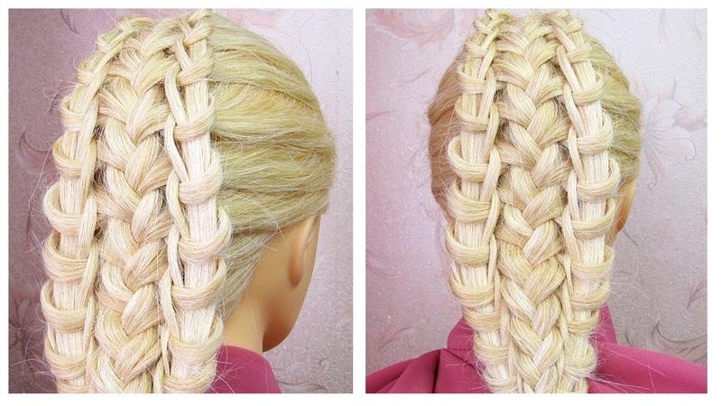 Belle coiffure facile à faire cheveux mi long/long 💥 Tuto coiffure avec tresse