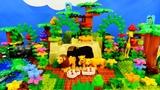 Строим из Lego Duplo, Lion Pride, Wild Zoo Animals, Animals Of Africa Savanna - Вокруг света Африка