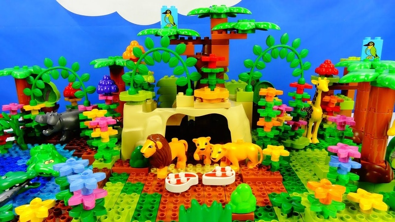 Строим из Lego Duplo, Lion Pride, Wild Zoo Animals, Animals Of Africa Savanna - Вокруг света: Африка