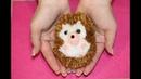 Как сделать Ёжика из помпонов /how to make a hedgehog from pom pom