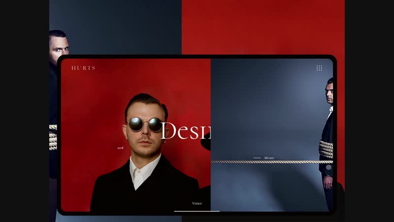 Animation main screen for website music group. Part 1