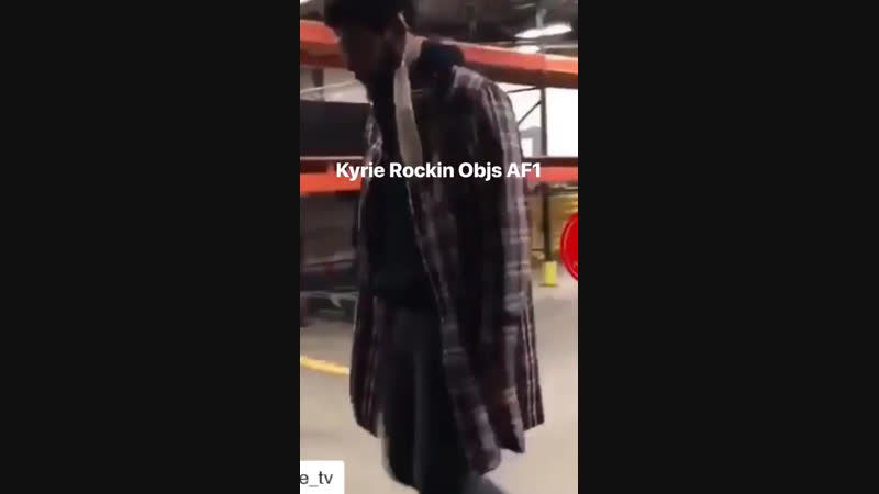 Kyrie wearing objs shoes