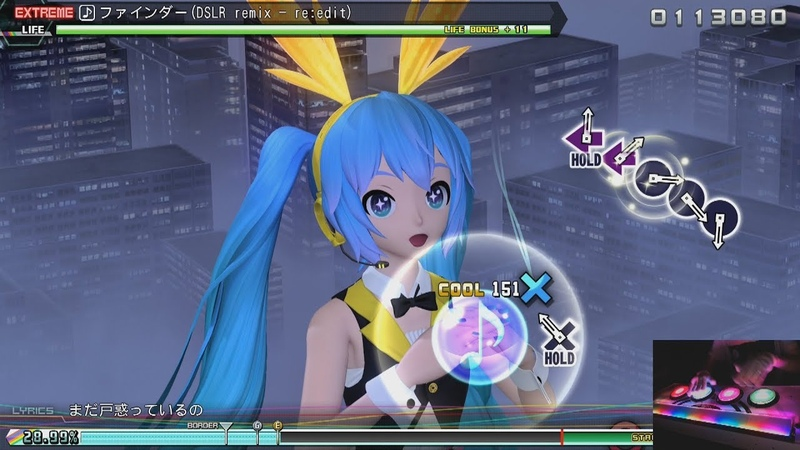 |ARCADE CONTROLLER | Finder (DSLR remix - re:edit) |Project DIVA Future Tone DX | EXTREME PERFECT|