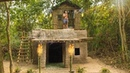 Amazing Clever Bushman Building Beautiful Wooden villa house on Top Roof King Mansion