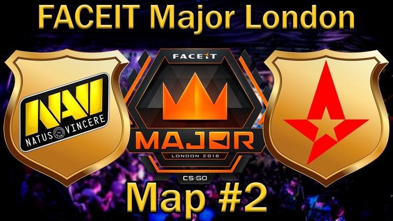 Будут ли у НАВИ шансы | NaVi vs Astralis Map 2 bo3 de_overpass [RU] | FaceIT Major London 2018