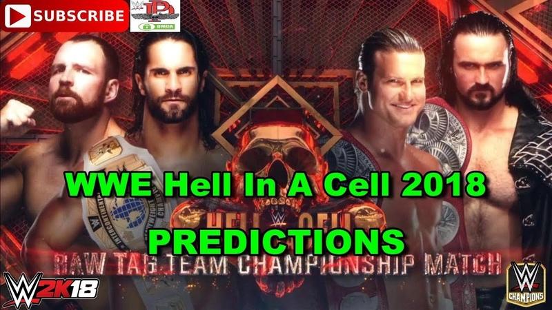 WWE HIAC 2018 Raw Tag Team Championship Dolph Ziggler Drew McIntrye vs Seth Rollins Dean Ambrose