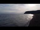 Чёрное море, шум прибоя.  с. Весёлое. Крым. 14.04.2018 г.
