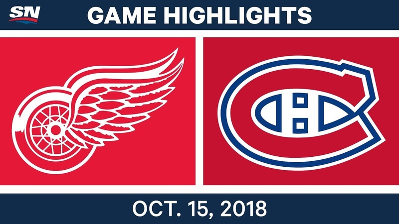 NHL Highlights Red Wings vs Canadiens Oct 15 2018