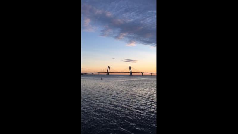 Порт Севкабель на закате ❤️