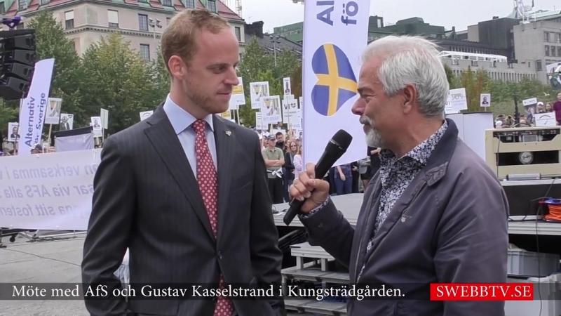 Möte med AfS och Gustav Kasselstrand i Kungsträdgården den 7 september 2018