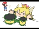 __bongo_cat_bowsette_and_mario_mario_series_and_new_super_mario_bros_u_deluxe_drawn_by_krisoyo__ccb733de00afefbcc69ae6dca5c35f9f