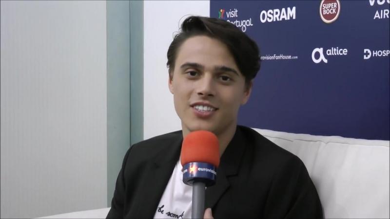 ALEKSEEV Интервью для Eurovisionlive, Лиссабон, Португалия (03.05.18)