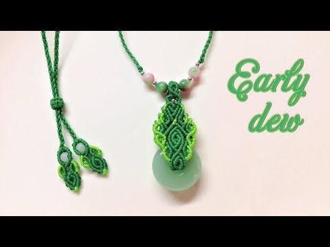 Macrame tutorial - The Early dew necklace - Hướng dẫn thắt dây chuyền Sương Sớm