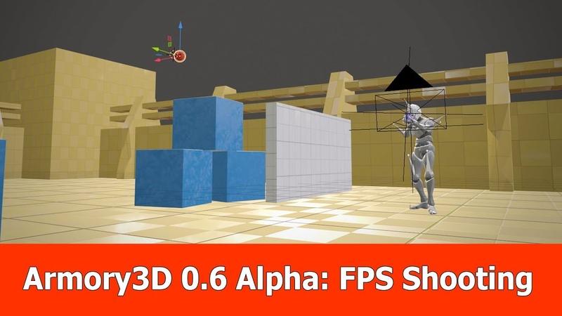Armory 3D / Blender 2.8 Tutorial : FPS Shooting