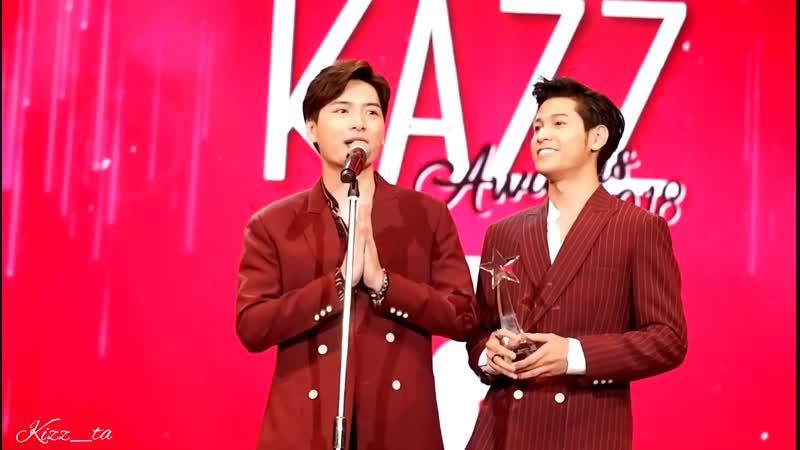 SINGTO KRIST - งาน Kazz Awards 2018 รับรางวัลคู่จิ้นแห่งปี [160518]