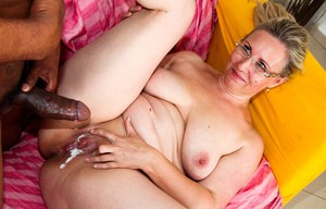 Brutal dildo in her sticky pussy
