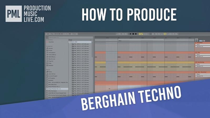 Berlin Berghain Techno Track with Ableton Live (Full Tutorial Walkthrough)