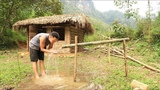 Primitive technology Irrigation, Water supply by bamboo tube for farming and living
