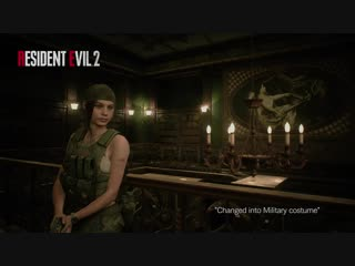 Resident Evil 2 - Claire Military DLC Costume Gameplay