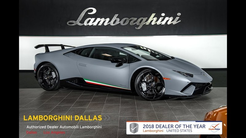 2018 Lamborghini Huracan Performante Grigio Vulcano L1089