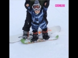 Маленький сноубордист