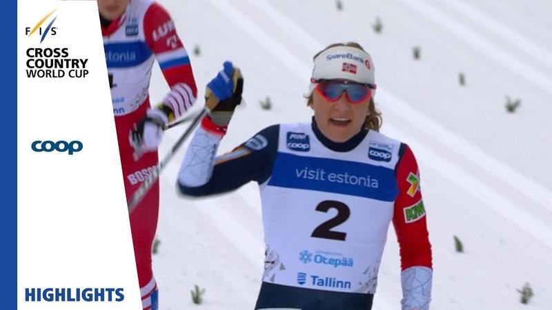 Highlights | Falla back on top of the podium | Otepää | Ladies Sprint | FIS Cross Country