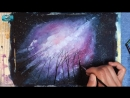 Watercolor Galaxy Painting Demonstration