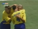 ЧМ 1994 Хенрик Ларссон Швеция мяч в ворота Болгарии