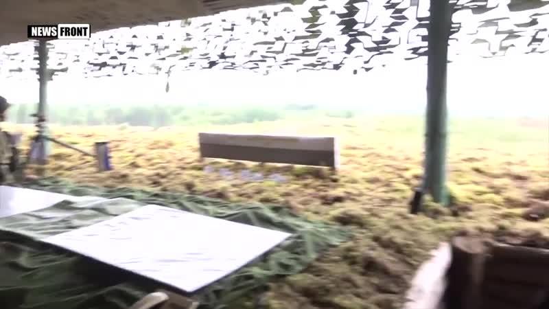 Стрельбы из тяжелой огнеметной системы ТОС-1А «Солнцепек» на полигоне в Ленинградской области (скачено с You Tube).