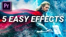 5 FAST EASY VISUAL EFFECTS in Premiere Pro