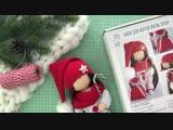 Набор для шитья куклы текстильная кукла гномик Элли _ Handmade Fabric Doll