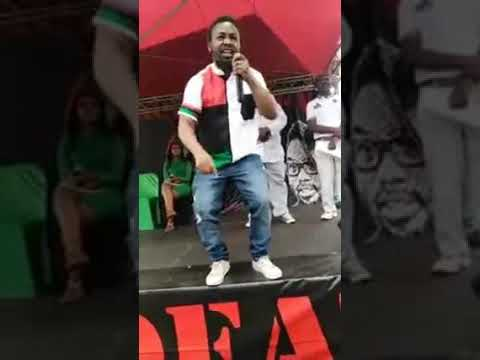 BLF racist Leader Andile Mngxitama threatens to kill white women , children and their animals...