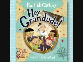 I'm excited to share the cover of my new children's book Hey Grandude!