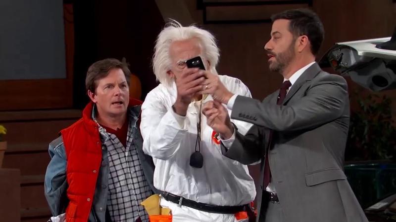 Марти и Док прибыли в 2015 год - Ток-шоу Джимми Киммел в прямом эфире