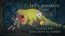 Let's Animate Ep 14 Krita Lara Croft vs Lizard 👄️🏹