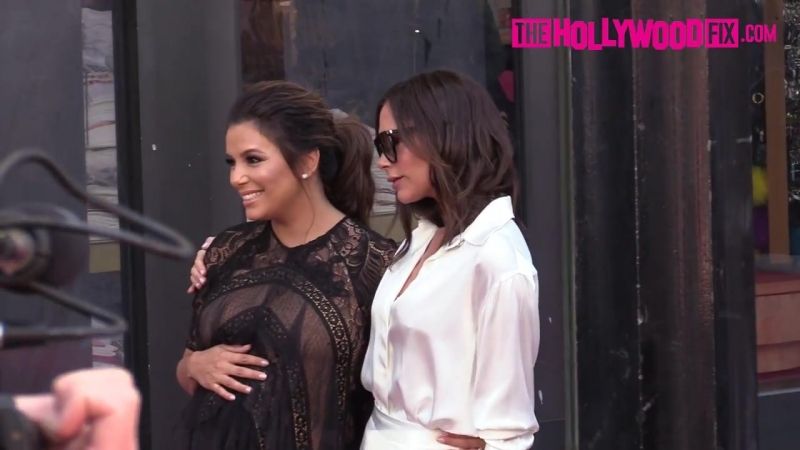 Victoria Beckham Supports Eva Longoria At Her Hollywood Walk Of Fame Ceremony 4..18