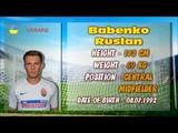 Babenko Ruslan (Passes, Tackling, Interceptions, Dribbling)
