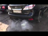 Раздвоенный выхлоп Lexus RX 350