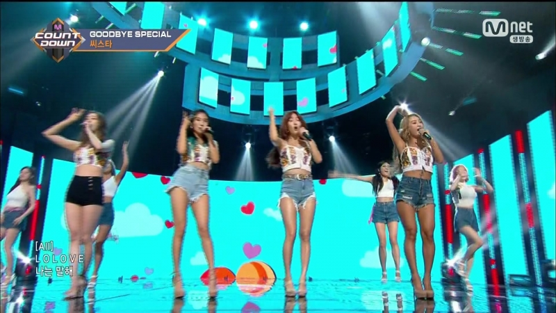 SISTAR - Touch My Body/Loving U/Shake It/Lonely [Mnet M!Countdown, 170601]